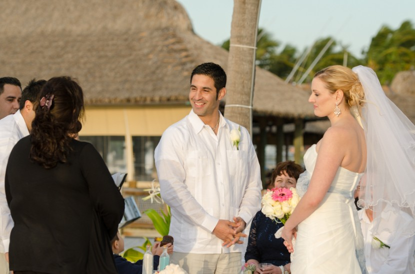 The happy couple during their ceremony
