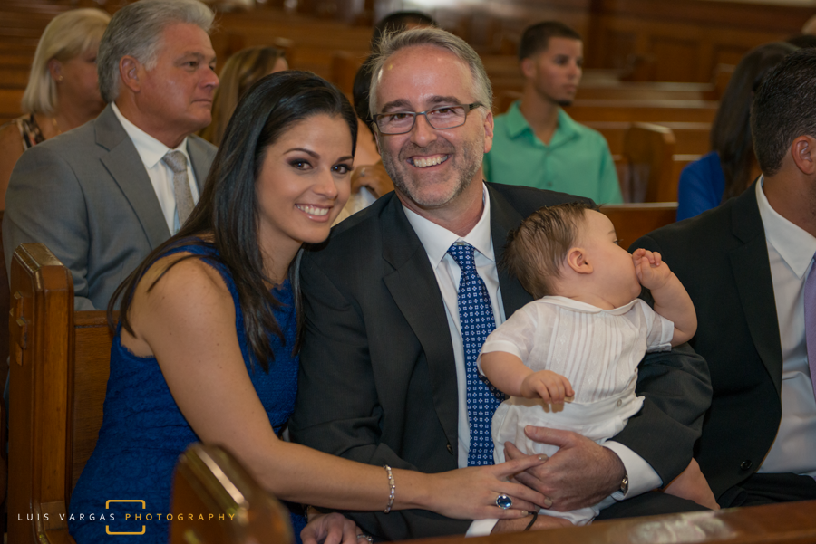 The family at the baptism
