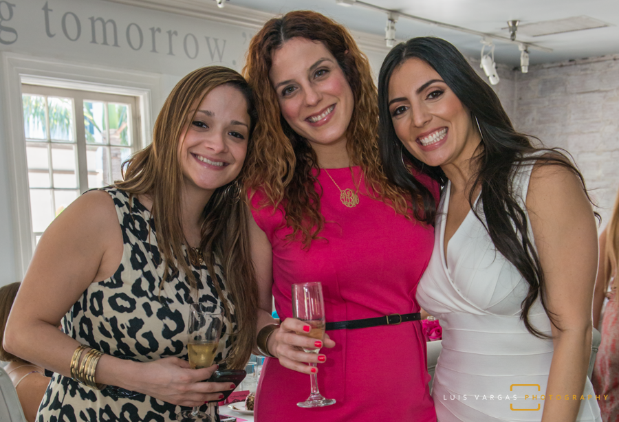 Bride with friends at her shower