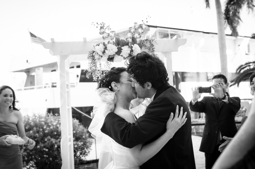 The kiss right after the ceremony
