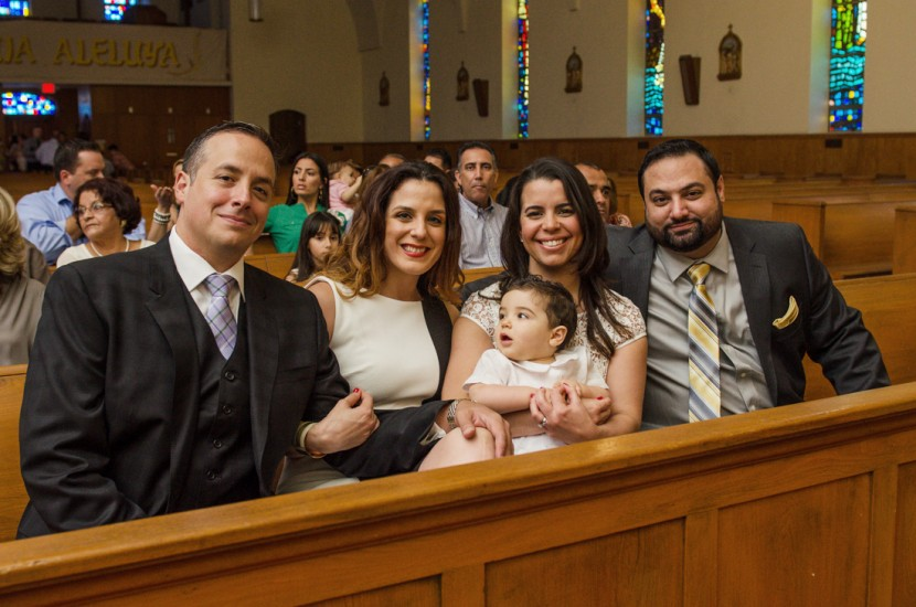 Giancarlo and his family before the Baptism