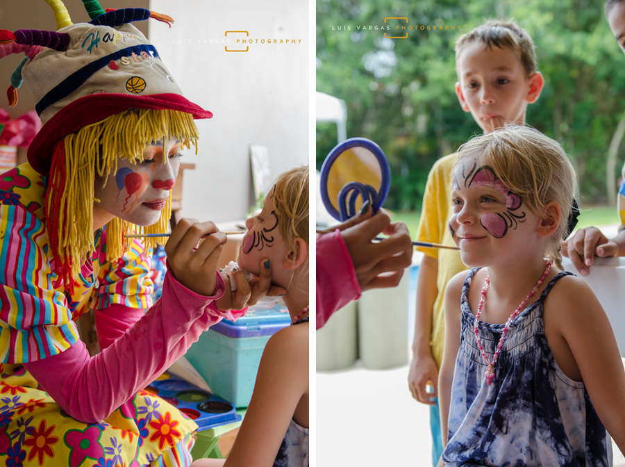 Face painting during the party