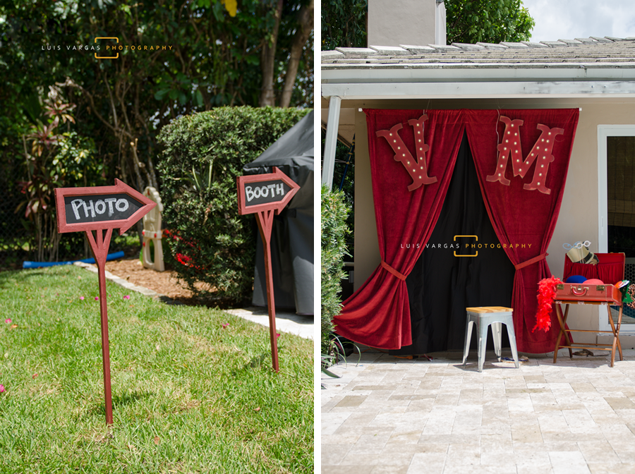 Vintage photo booth set up for the guests