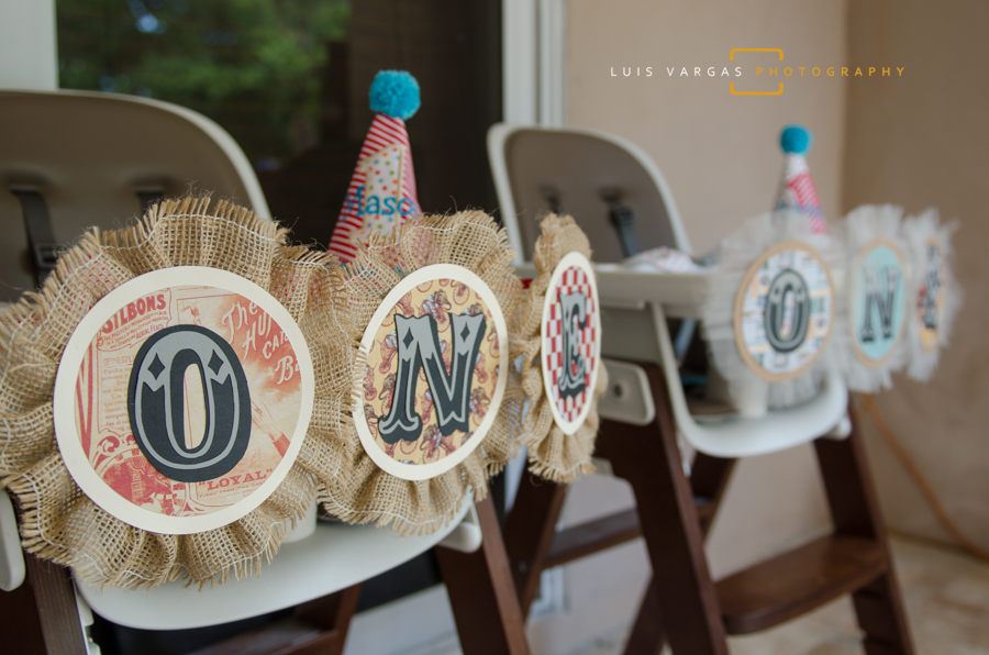 Vintage decorations for their high chairs