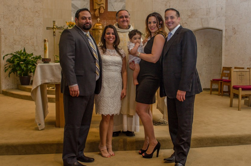 Giancarlo and his family after the Baptism