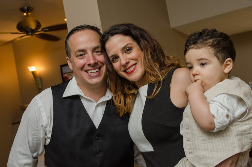 Giancarlo and his parents after his Baptism