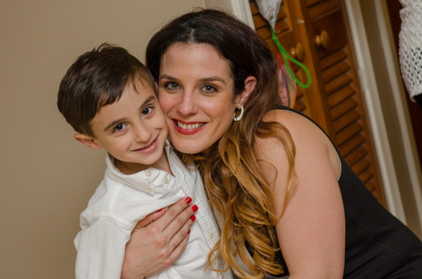 Desiree with her other son Frank Luca