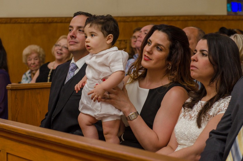 Giancarlo and his parents during the Baptism