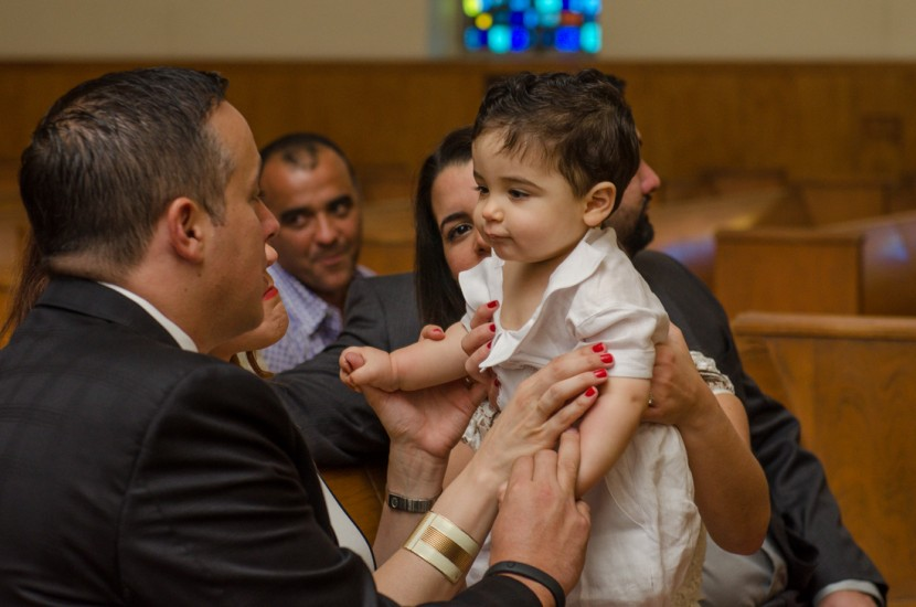 Giancarlo during his Baptism ceremony