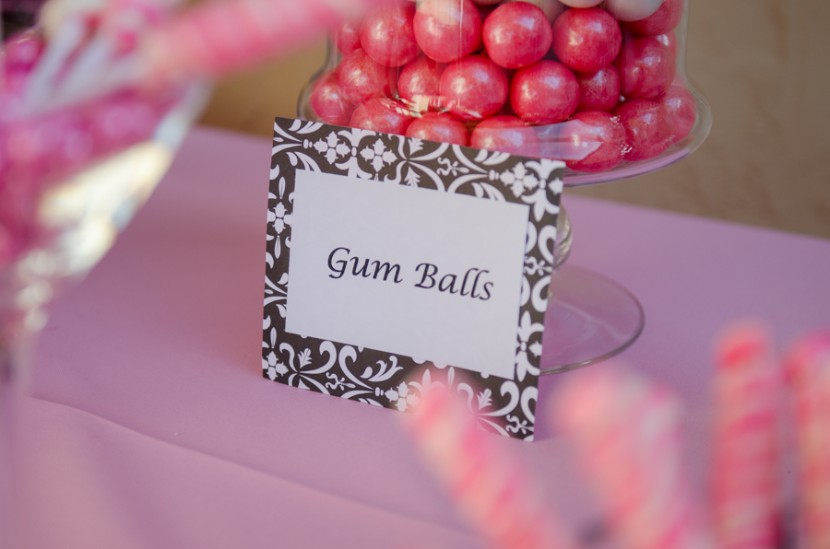 Custom gum balls sign