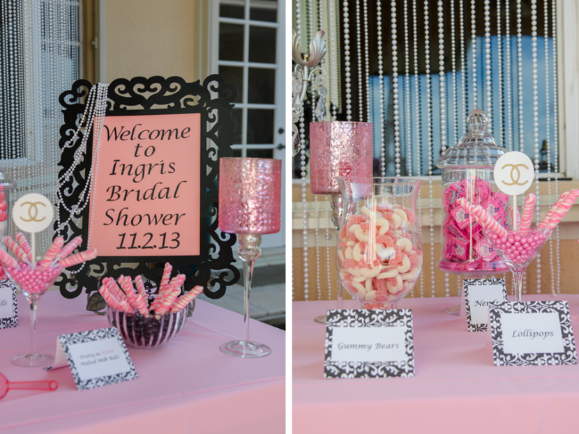 Custom welcome sign with pink and black theme