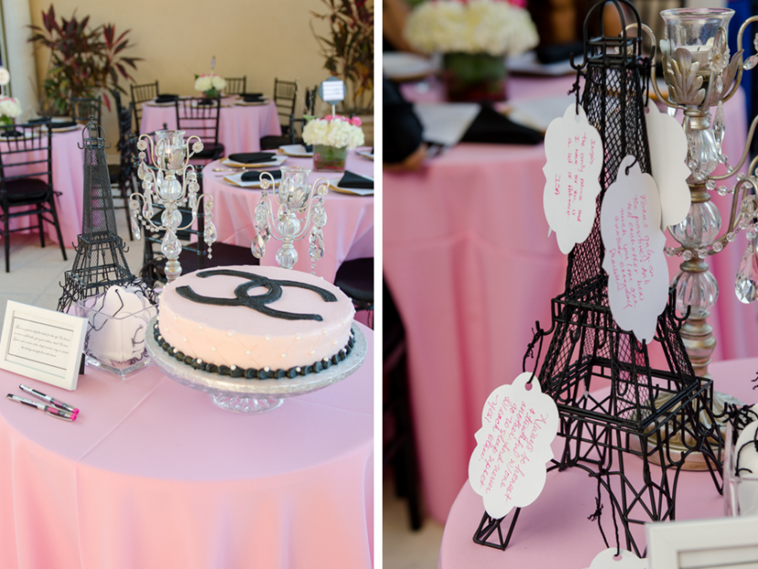 Paris style decor and Chanel cake