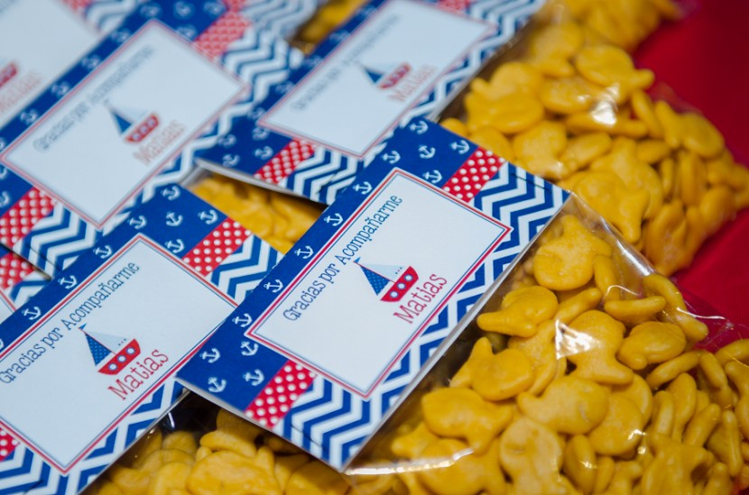 Custom made wrappers for the fish crackers