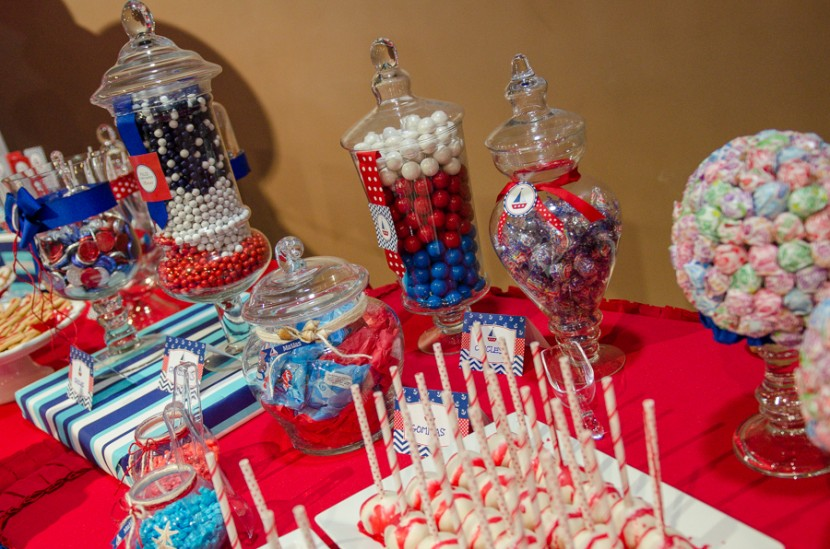 Candy table with decorations