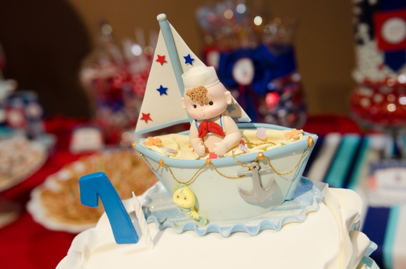 Sailor character on top of the birthday cake