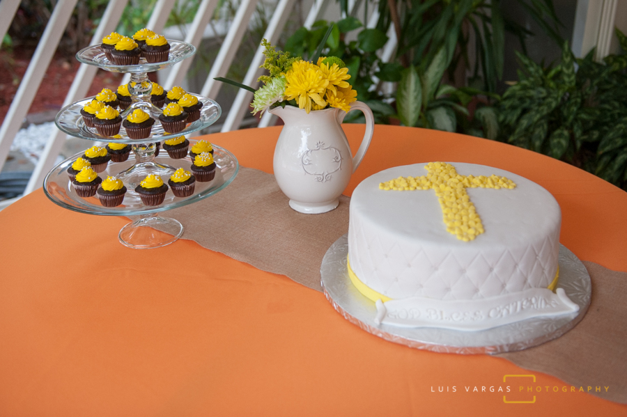 Baptism Cake and decorations