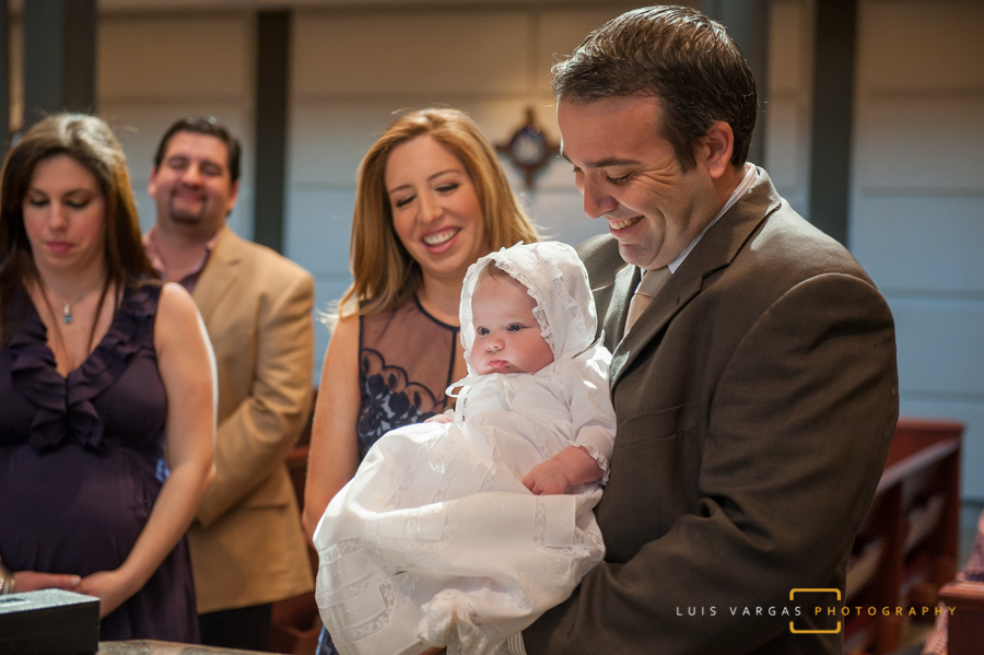 Ceterina during the ceremony with her dad