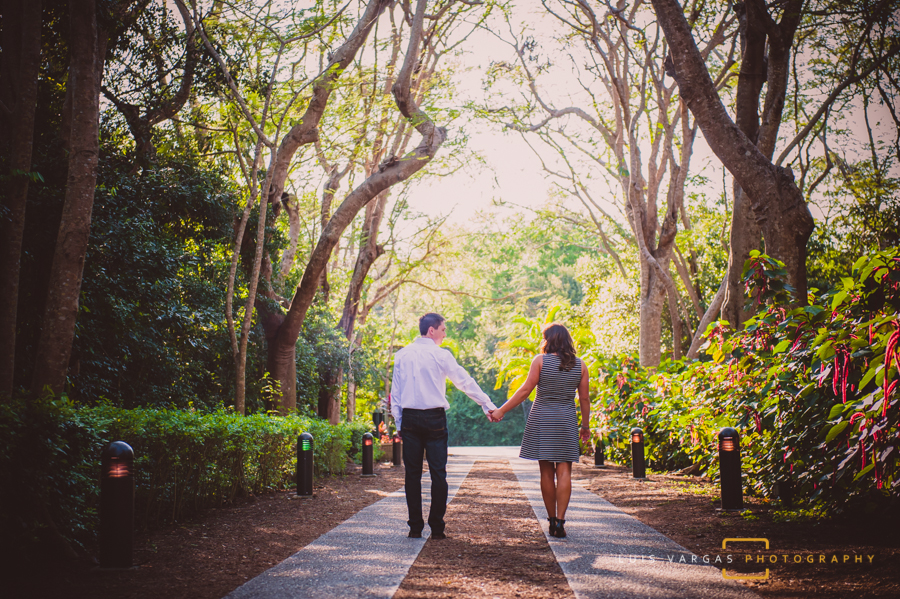 The couple by the entrance of Deering Estate