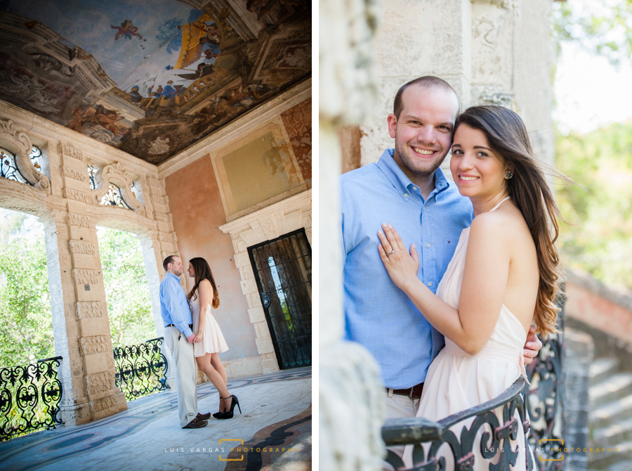 Engagement session at Vizcaya Museum & Gardens in Miami