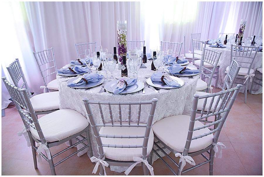 Reception space decor