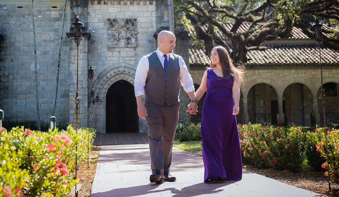 Engagement Session at The Ancient Spanish Monastery