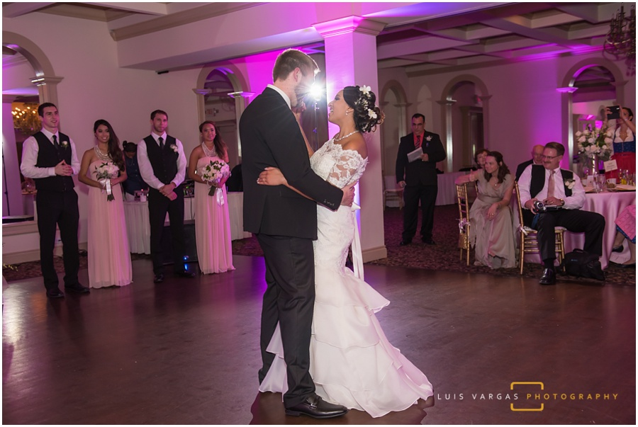 The happy couple during their first dance