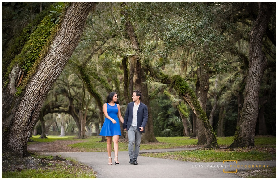 Engagement Session at Matheson Hammock Park