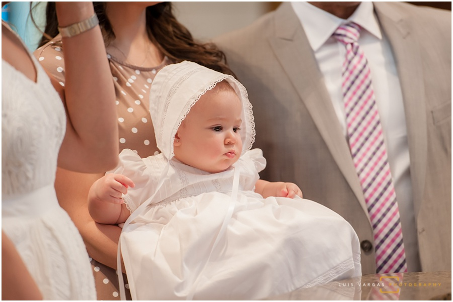 Baby Elle during the ceremony