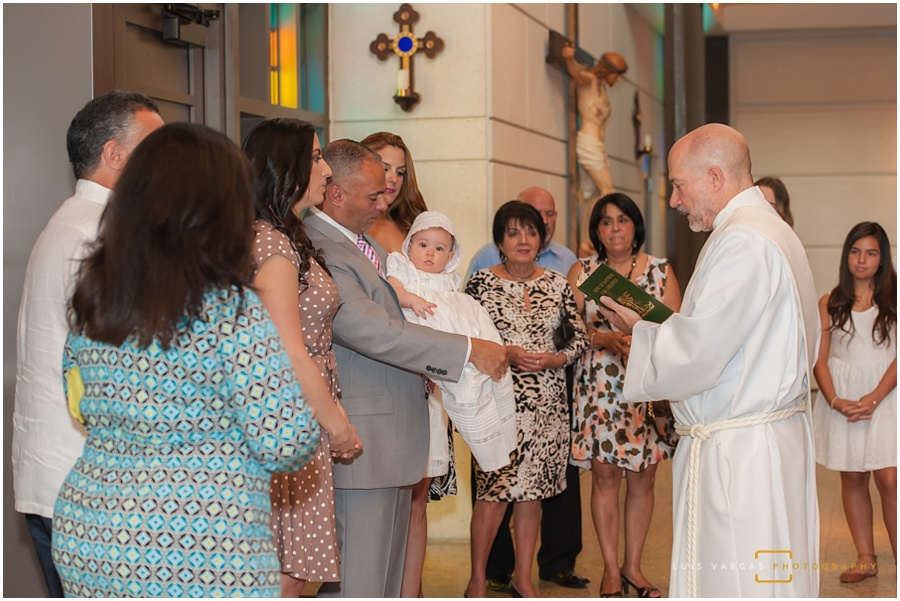 The starting of the Baptism ceremony