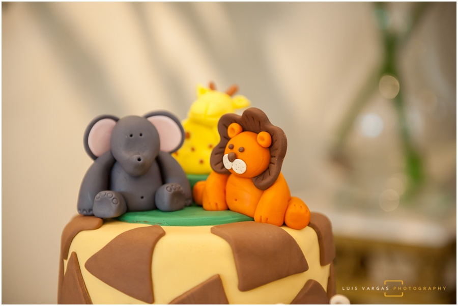 Safari theme cake for baby shower