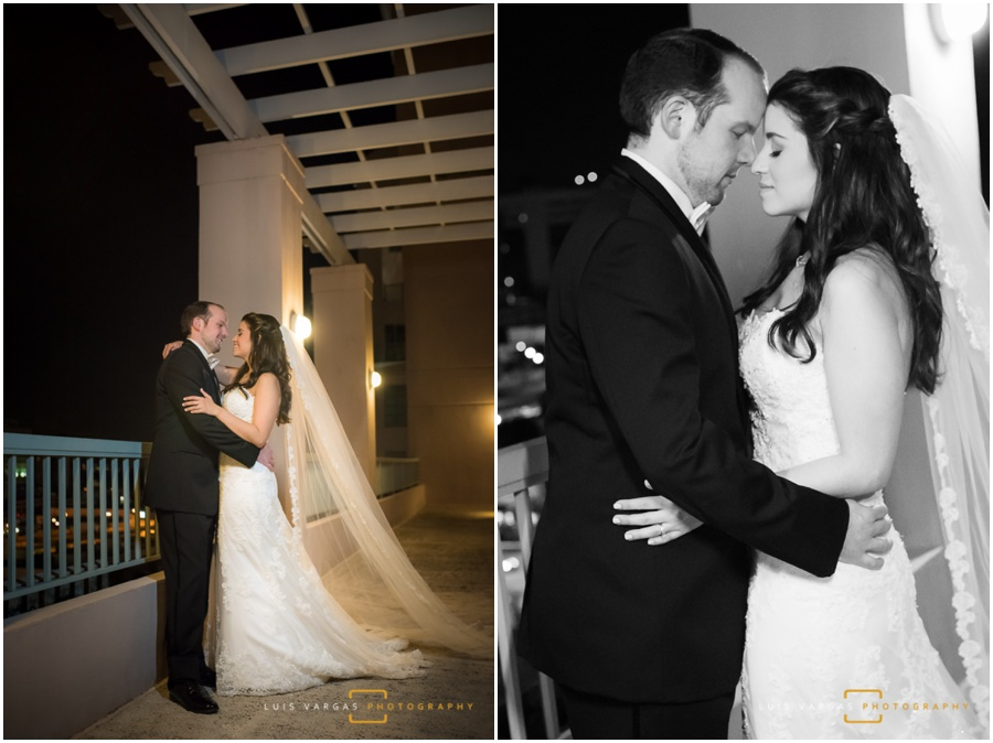 Bride and groom at the Westin Colonnade in Coral Gables