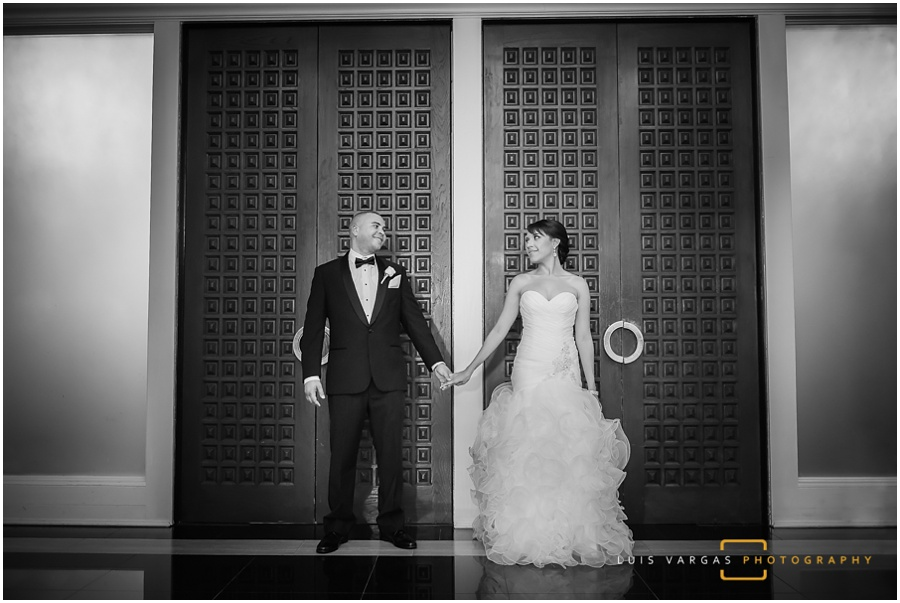 Bride and groom at the Coral Gables Country Club