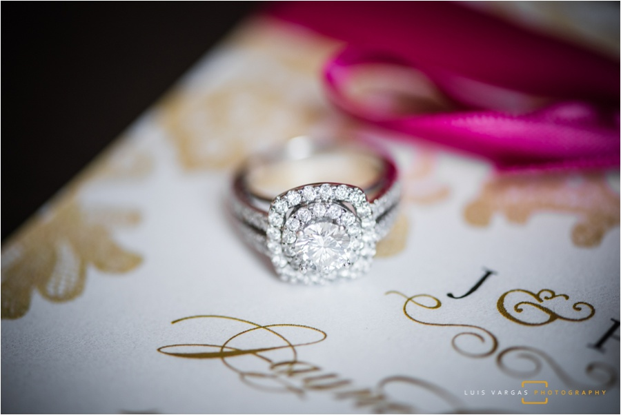 Engagement ring and invitation